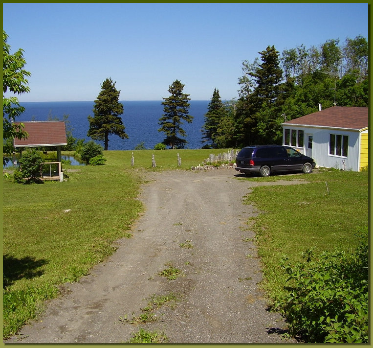 The view when you arrive at the cottage 4 1/2